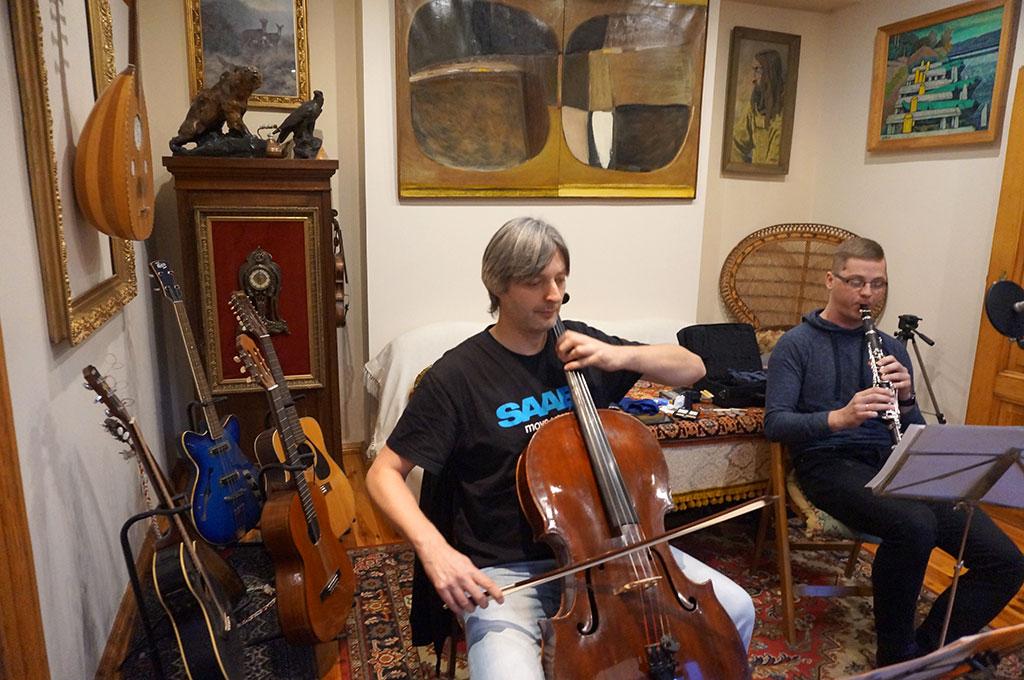 Waldemar Rychły Trio - próba: Krzysztof Kubasik i Kuba Majda